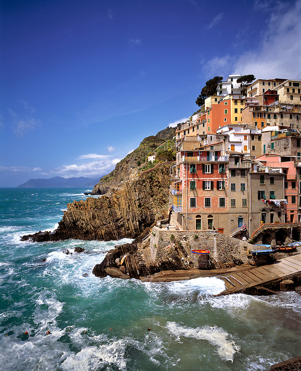 Riomaggiore is the southern most town of the Cinque Terre, Liguria, Italy.