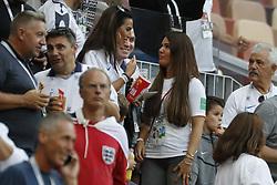 Jamie Vardy of England's wife Rebekah Vardy during the 2018 FIFA World Cup Russia semi-final game, England vs Croatia In Luzhniki Stadium, Moscow, Russia on July 11th, 2018. Croatia won 2-1. Photo by Henri Szwarc/ABACAPRESS.COM