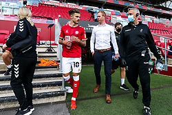 Jamie Paterson and Bristol City head coach Dean Holden - Rogan/JMP - 05/09/2020 - Ashton Gate Stadium - Bristol, England - Bristol City v Exeter City - Carabao Cup First Round.