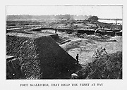 FORT MCALLISTER, THAT HELD THE FLEET AT BAY from the book ' The Civil war through the camera ' hundreds of vivid photographs actually taken in Civil war times, sixteen reproductions in color of famous war paintings. The new text history by Henry W. Elson. A. complete illustrated history of the Civil war