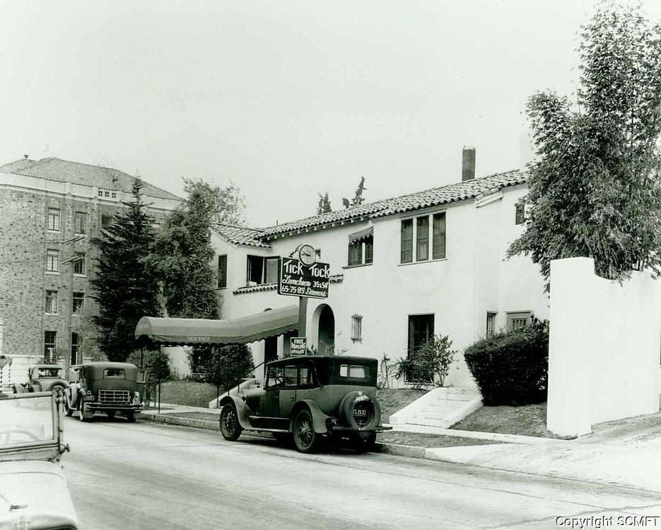 1930 Tick Tock Restaurant on Yucca St. and Wilcox Ave.