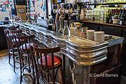 France, Paris (75), La Grille Montorguiel, traditional bar, or zinc.