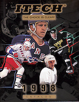 1998:  ITECH ice and roller hockey catalog.  Action photo tearsheet