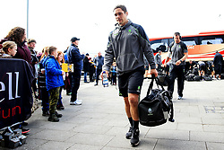Jackson Willison of Worcester Warriors arrives at the AJ Bell Stadium - Mandatory by-line: Matt McNulty/JMP - 24/03/2018 - RUGBY - AJ Bell Stadium - Manchester, England - Sale Sharks v Worcester Warriors - Aviva Premiership