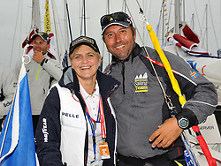 Tina Thorner (Motorsport) join Bjorn Hansen for the Celebrity Race at the Stena Match Cup 11. Photo: Chris Davies/WMRT