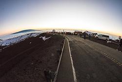 View From Mauna Kea At Dusk