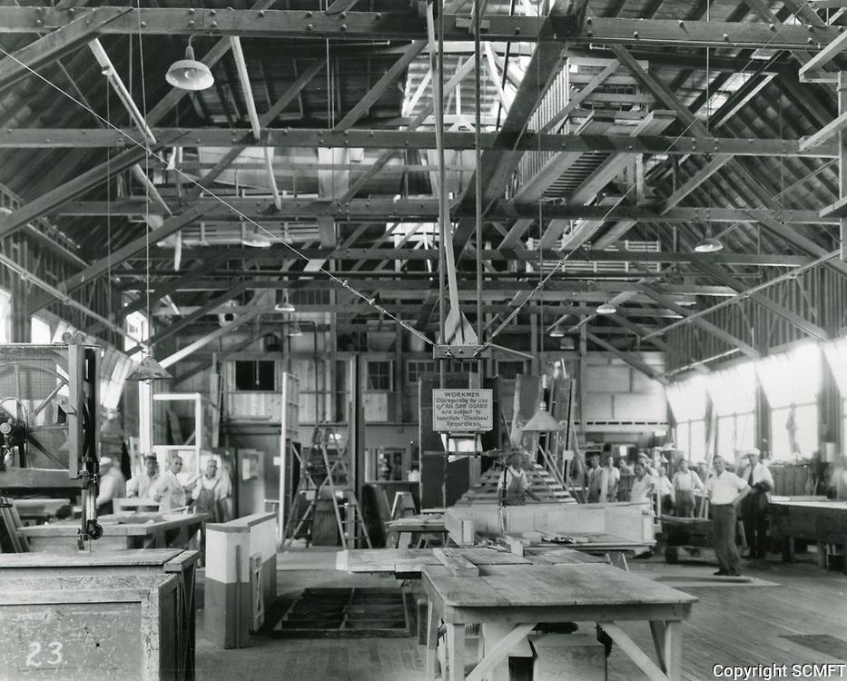 1935 Carpentry shop at Columbia Studios