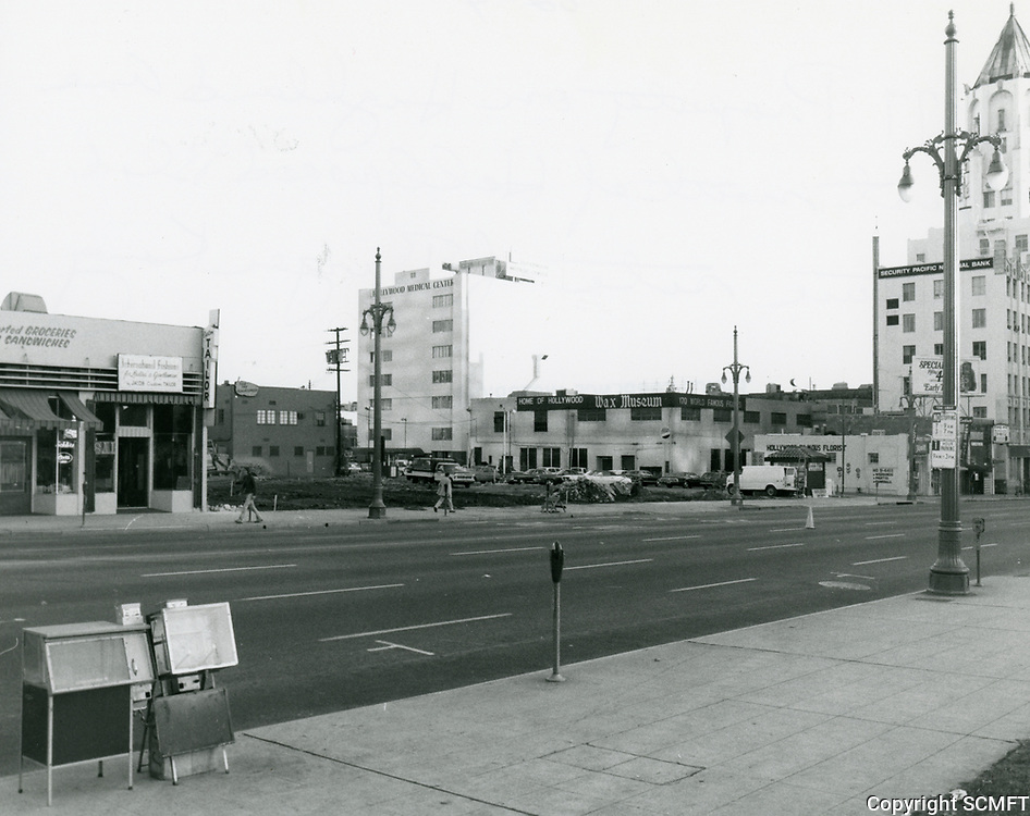 1977 Vacant lot on Highland Ave., just north of Hollywood Blvd.