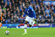 Romelu Lukaku of Everton in action. Premier league match, Everton v Hull city at Goodison Park in Liverpool, Merseyside on Saturday 18th March 2017.<br /> pic by Chris Stading, Andrew Orchard sports photography.