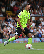 Beram Kayal dribbling during the Sky Bet Championship match between Fulham and Brighton and Hove Albion at Craven Cottage, London, England on 15 August 2015. Photo by Matthew Redman.