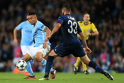 17th October 2017 - UEFA Champions League - Group F - Manchester City v Napoli - Gabriel Jesus of Man City battles with Raul Albiol of Napoli - Photo: Simon Stacpoole / Offside.