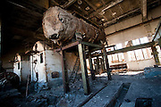 Fish-processing machineIns are seen in an abandoned former fish factory in Aralsk, Kazakhstan.