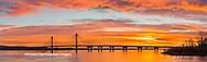 63895-15904 Clark Bridge at sunrise Alton IL