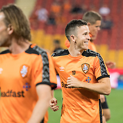 BRISBANE, AUSTRALIA - OCTOBER 7: Matt McKay of the Roar warms up during the round 1 Hyundai A-League match between the Brisbane Roar and Melbourne Victory at Suncorp Stadium on October 7, 2016 in Brisbane, Australia. (Photo by Patrick Kearney/Brisbane Roar)