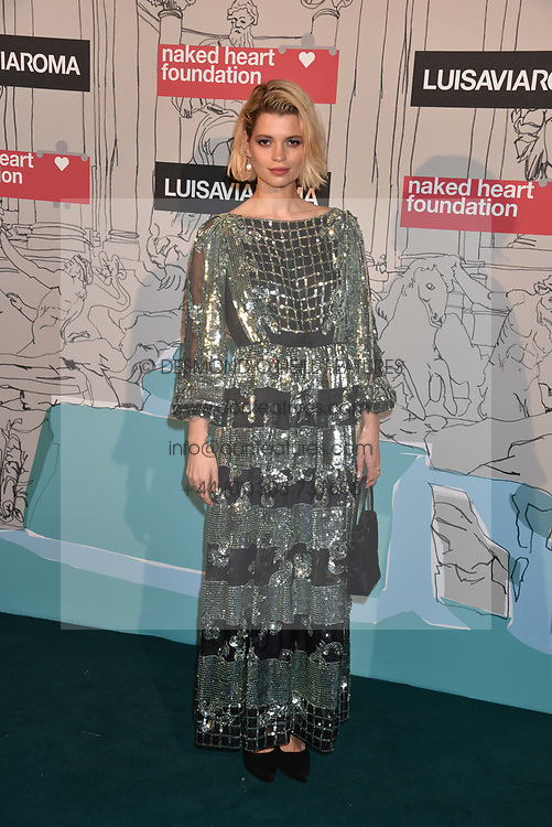 Pixie Geldoff at the Fabulous Fund Fair in aid of Natalia Vodianova's Naked Heart Foundation in association with Luisaviaroma held at The Round House, Camden, London England. 18 February 2019.