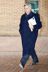 © Licensed to London News Pictures.  28/01/2013. LONDON, UK. Former Energy Secretary Chris Huhne (pictured) leaves Southwark Crown Court after pleading not guilty to perverting the course of justice. The trial is due to start next Monday (4th Feb).  Photo credit :  Cliff Hide/LNP