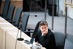 """27.02.2020, Hofburg, Wien, AUT, Hofburg, Sitzung des Nationalrates mit Aktueller Stunde der Grünen zu Transit, Beharrungsbeschluss zu Obergrenzen für Bundeshaftungen, Erklärung Anschober und Nehammer zu Corona, im Bild Werner Kogler (Gruene)// during meeting of the National Council of austria due to the topic """"Meeting of the National Council with the current Greens hour on transit, decision to persevere on upper limits for federal liability, declaration of Anschober and Nehammer about Corona"""" at Hofburg palace in Vienna, Austria on 2020/02/27, EXPA Pictures © 2020, PhotoCredit: EXPA/ Florian Schroetter"""