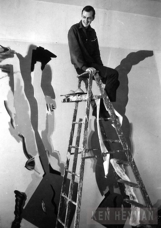 Artist, Allan Jones in his studio.