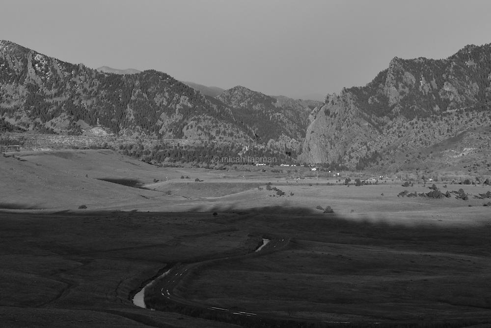 Looking west at Eldorado Canyon
