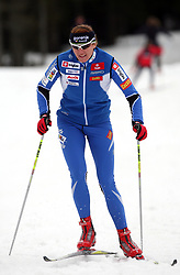 Slovenian cross-country skier Petra Majdic at Alpina presentation of new cross-country shoes with red dot award: product design, on April 24, 2008, in Pokljuka, Rudno polje, Slovenia.  (Photo by Vid Ponikvar / Sportal Images)/ Sportida)