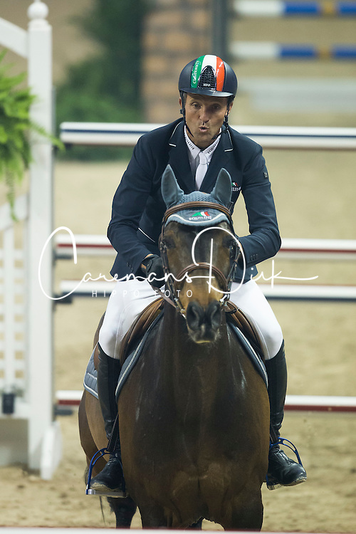 Moneta Luca Maria, (ITA), Connery<br /> Longines FEI World Cup™ Jumping Final II<br /> Las Vegas 2015<br />  © Hippo Foto - Dirk Caremans<br /> 18/04/15