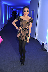 DIONNE BROMFIELD at a party hosted by Rimmel London to celebrate the 10 year partnership with Kate Moss held at Battersea Power Station, London SW8 on 15th September 2011.