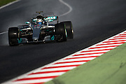 February 26, 2017: Circuit de Catalunya.  Valtteri Bottas (FIN), Mercedes AMG Petronas Motorsport, F1 W08 during the Pirelli wet weather tire test.