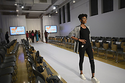 August 19, 2017 - Toronto, Ontario, Canada - A model doing rehearsals of the ramp walk  during the 4th day of African Fashion Week in Toronto, Canada on 19 August 2017. (Credit Image: © Arindam Shivaani/NurPhoto via ZUMA Press)