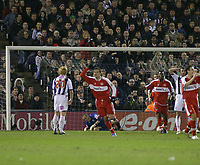 Photo: Mark Stephenson.<br /> West Bromwich Albion v Middlesbrough. The FA Cup. 27/02/2007.Mark Viduka makes it 1-1 with his goal for Middlesbrough