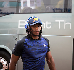 Sibhale Maxwane of Cheetahs arrives at the stadium<br /> <br /> Photographer Simon King/Replay Images<br /> <br /> Guinness PRO14 Round 2 - Ospreys v Cheetahs - Saturday 8th September 2018 - Liberty Stadium - Swansea<br /> <br /> World Copyright © Replay Images . All rights reserved. info@replayimages.co.uk - http://replayimages.co.uk