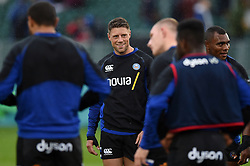 Rhys Priestland of Bath Rugby looks on during the pre-match warm-up - Mandatory byline: Patrick Khachfe/JMP - 07966 386802 - 24/08/2018 - RUGBY UNION - The Recreation Ground - Bath, England - Bath Rugby v Scarlets - Pre-season friendly