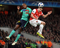 Robin Van Persie<br /> Arsenal 2010/11<br /> Eric Abidal Barcelona<br /> Arsenal V Barcelona 16/02/11 UEFA Champions League<br /> <br /> Norway only