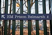 Entrance sign to HMP Belmarsh.