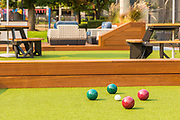 Bocce Ball and Sitting Area