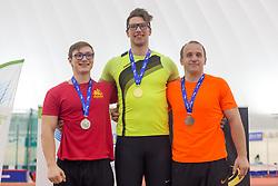 Klemen Jeršin, Kristjan Čeh and Jože Pirnat during day 2 of Slovenian Athletics Indoor Championships 2020, on February 23, 2020 in Novo mesto, Slovenia. Photo by Peter Kastelic / Sportida
