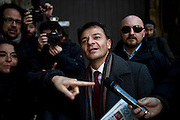 Stefano Fassina go to the headquarters of the Democratic Party. Rome, 6 january 2014. Christian Mantuano / OneShot