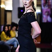 Samina Mughal showcases a set (LUXXE) at SMGlobal Catwalk - London Fashion Week F/W19 at Clayton Crown Hotel,  Cricklewood Broadway, on 1st March 2019, London, UK.