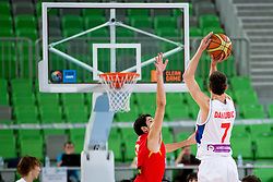 Nemanja Dangubic of Serbia during basketball match between National teams of Serbia and Spain in for third place match of U20 Men European Championship Slovenia 2012, on July 22, 2012 in SRC Stozice, Ljubljana, Slovenia. Spain defeated Serbia 67:66. (Photo by Matic Klansek Velej / Sportida.com)