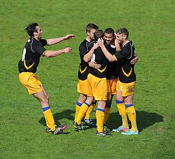 Mansfield Town's Colin Daniel celebrates his goal.- Photo mandatory by-line: Alex James/JMP - Mobile: 07966 386802 03/05/2014 - SPORT - FOOTBALL - Bristol - Memorial Stadium - Bristol Rovers v Mansfield - Sky Bet League Two
