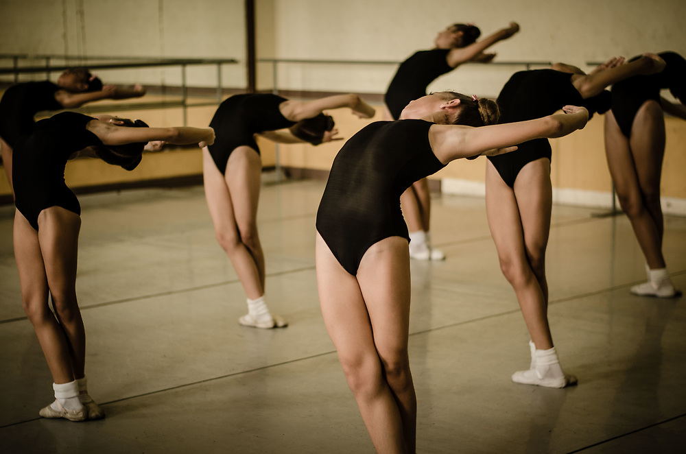 Ballerinas hard at work at the Cuban National Ballet in Havana, Cuba