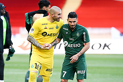 May 5, 2019 - Monaco, France - JOIE - FAIR PLAY - 07 REMY CABELLA (ASSE) - 16 STEPHANE RUFFIER  (Credit Image: © Panoramic via ZUMA Press)