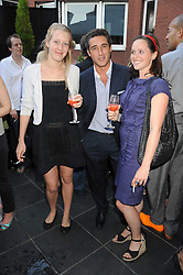 Left to right, ALICE ROTHSCHILD, LUCA DEL BONO and JADE SUMMER at the Beat Summer party hosted by Luca del Bono at L'Atelier De Joel Robuchon, 13-15 West Street, Covent Garden, London on 1st July 2008.<br />