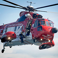 Irish Coastguard Sikorsky S-61 performing at the Salthill Airshow in 2007.<br /> Aviation and Aerial Photography by John Allen