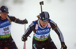 Haley Johnson (USA) at Women 15 km Individual at E.ON Ruhrgas IBU World Cup Biathlon in Hochfilzen (replacement Pokljuka), on December 18, 2008, in Hochfilzen, Austria. (Photo by Vid Ponikvar / Sportida)