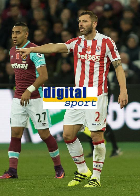 Football - 2016 / 2017 Premier League - West Ham United vs. Stoke City<br /> <br /> Phillip Bardsley of Stoke City at The London Stadium.<br /> <br /> COLORSPORT/DANIEL BEARHAM
