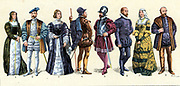 Courtiers Officers nobles and Knights of the Spanish Court Circa 1510