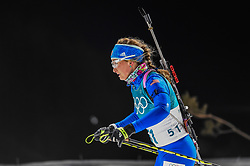 February 12, 2018 - Pyeongchang, Gangwon, South Korea - Vanessa Hinz of Germany   competing at Women's 10km Pursuit, Biathlon, at olympics at Alpensia biathlon stadium, Pyeongchang, South Korea. on February 12, 2018. Ulrik Pedersen/Nurphoto  (Credit Image: © Ulrik Pedersen/NurPhoto via ZUMA Press)