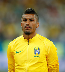 June 17, 2018 - Rostov Do Don, Rússia - ROSTOV DO DON, RO - 17.06.2018: BRAZIL VS SWITZERLAND - Paulinho of Brazil during a match between Brazil and Switzerland valid for the first round of group E of the 2018 World Cup, held at the Rostov Arena in Rostov on Don, Russia. (Credit Image: © Marcelo Machado De Melo/Fotoarena via ZUMA Press)