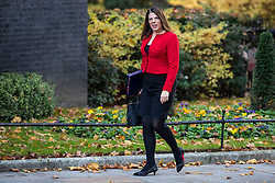© Licensed to London News Pictures. 13/11/2018. London, UK. Minister of State for Immigration Caroline Nokes arrives on Downing Street for the Cabinet meeting. Photo credit: Rob Pinney/LNP
