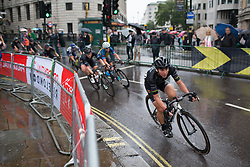 Giorgia Bronzini (ITA) of Wiggle Hi5 Cycling Team leans into a corner on Trafalgar Square during the Prudential Ride London Classique - a 66 km road race, starting and finishing in London on July 29, 2017, in London, United Kingdom. (Photo by Balint Hamvas/Velofocus.com)